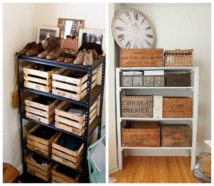 Des idées de petits rangement pas cher pour l'appartement