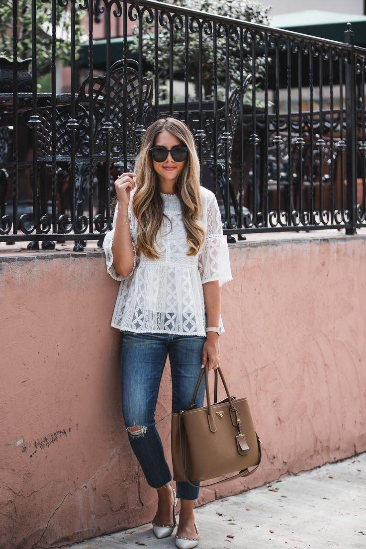 White Lace Peplum | The Teacher Diva: a Dallas Fashion Blog featuring Beauty & Lifestyle