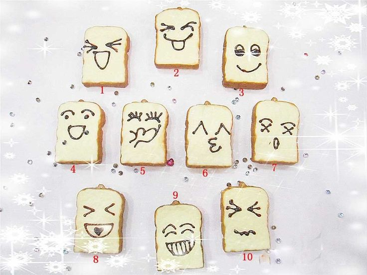 Cute Multi Designs Kawaii Squishy Face Toasts Scented Toast Cell Phone Charms Straps Free Shipping Wholesale Best Gift  FFC006-in Mobile Phone Straps from Phones  Telecommunications on Aliexpress.com $22.11