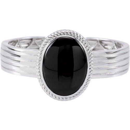 Sterling Silver 30.00x22.00 Mm Onyx Genuine Hinged Cuff Bracelet Brac Enlightened Expressions. $205.34. 30.00X22.00 MM ONYX. Polished. Sterling Silver. 26.000 Ct -- 30x22 Onyx MM, Oval Cabachon Gemstone Onyx. 26.88 DWT ( 41.80 grams)