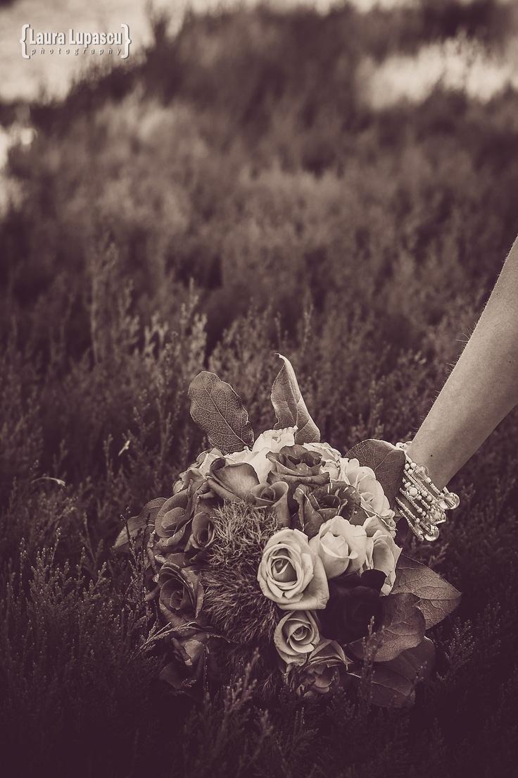 Going dark - vintage, wedding bouquet