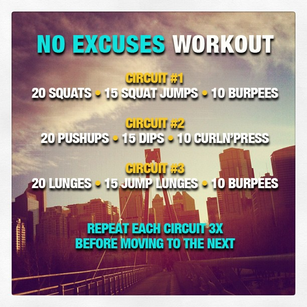 No Excuses Workout Circuit