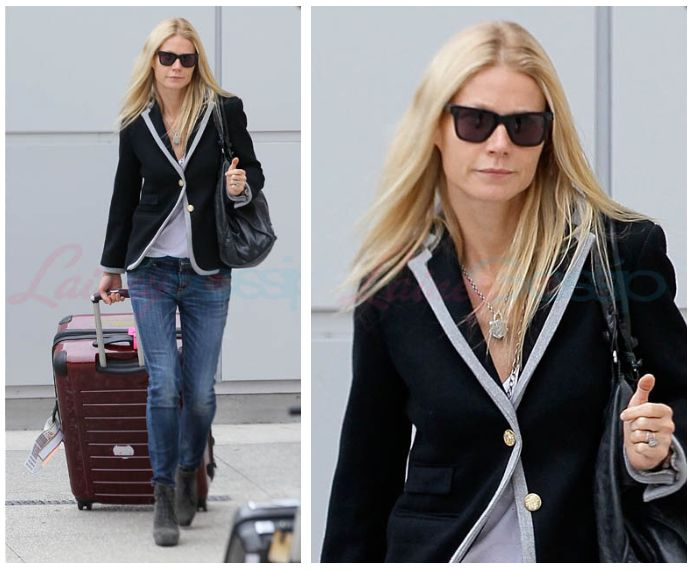 Gwen Paltrow J Crew Hacking Jacket and cute boots