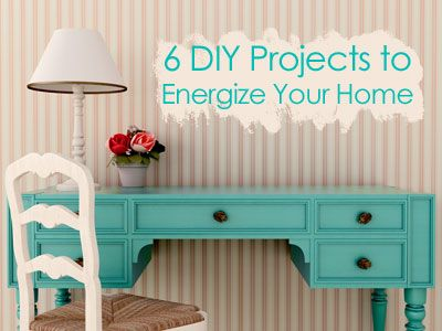 6 DIY Projects To Energize Your Home  #GetOrganized #LifeMadeSimple #DIY #paint #hardware #furniture #repurpose #plants #patterns