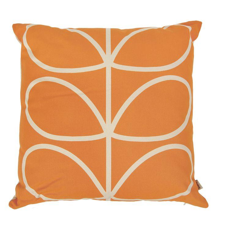 Discover the Orla Kiely Linear Stem Cushion - 45x45cm - Orange at Amara