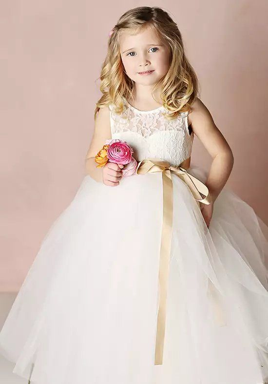 e60e687bd63 FATTIEPIE Elizabeth Ivory Flower Girl Dress