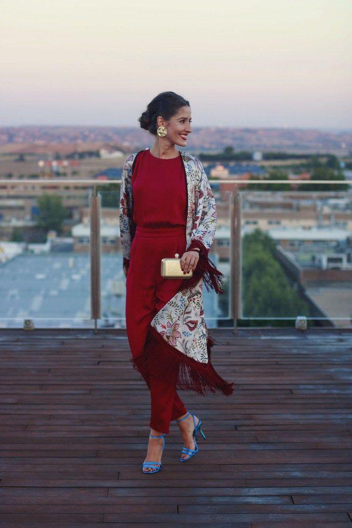 4833811d Invitada perfecta boda lowcost Zara otoño kimono mono jumpsuit | el ...
