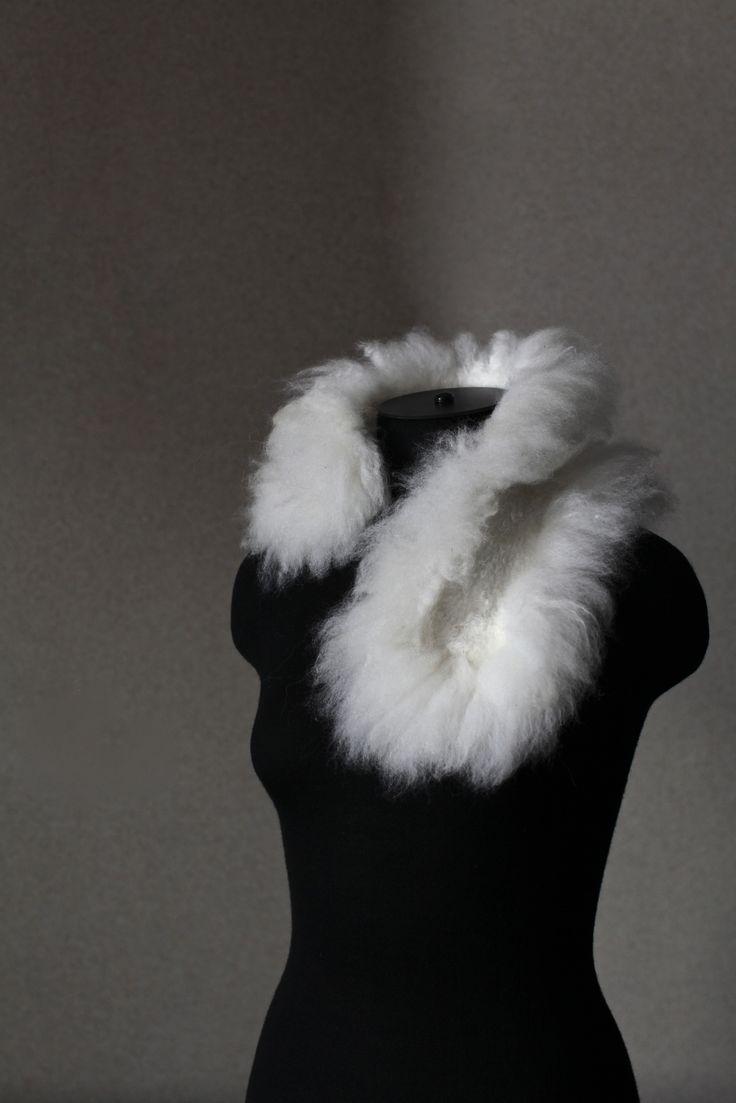 Felted Scarf No Kill Alpaca Fur Neck Warmer http://www.feltedpleasure.com/shop.html
