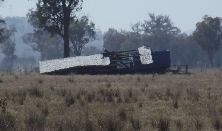 Shed, fallen down. Culcairn, NSW