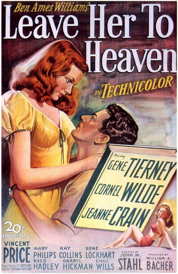 'Leave Her To Heaven'- outstanding classic movie - Gene Tierney, Cornell Wilde and Jeanne Crain