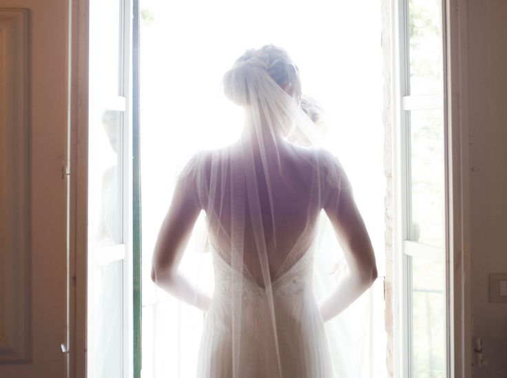 Hand embroidered dress designed by Christine Ritter for elDevere Bridal