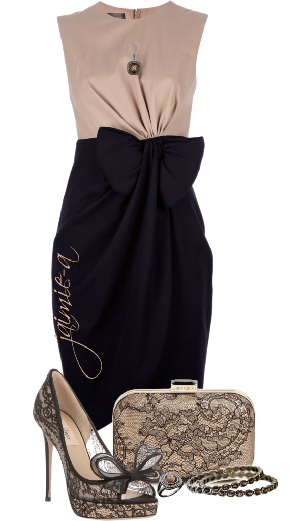 """""""Bow Detailed Dress"""" by jaimie-a on Polyvore"""