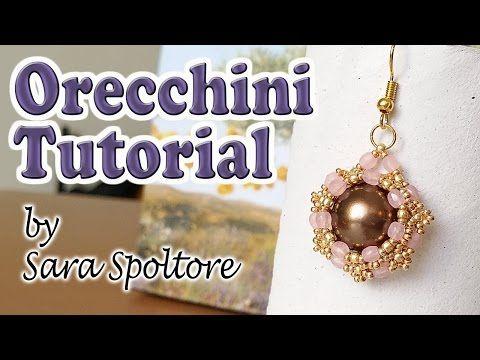 Tutorial orecchini con perline - Come fare orecchini fai da te con perline - Orecchini facili - YouTube