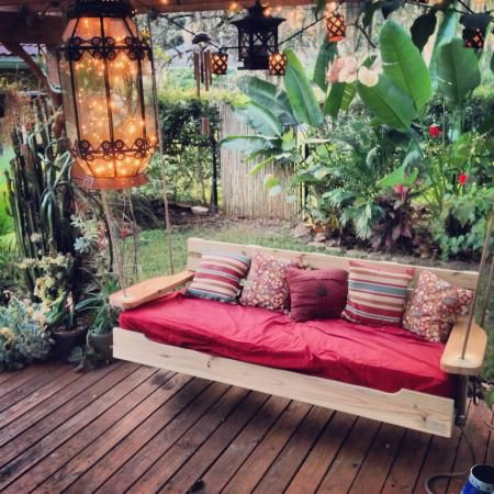 Porch swing bed   Do It Yourself Home Projects from Ana White