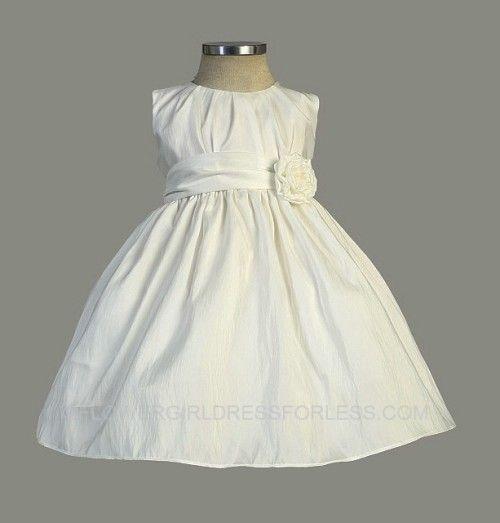 Flower Girl Dress Style 355 - Beautiful Pleated Solid Taffeta Dress