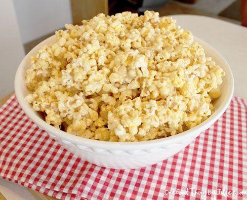 """Stuck Inside During A Snow Storm"" Marshmallow Popcorn. :-)"