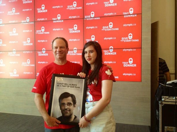 London 2012: Randy Starkman honoured in tribute at Canada Olympic House