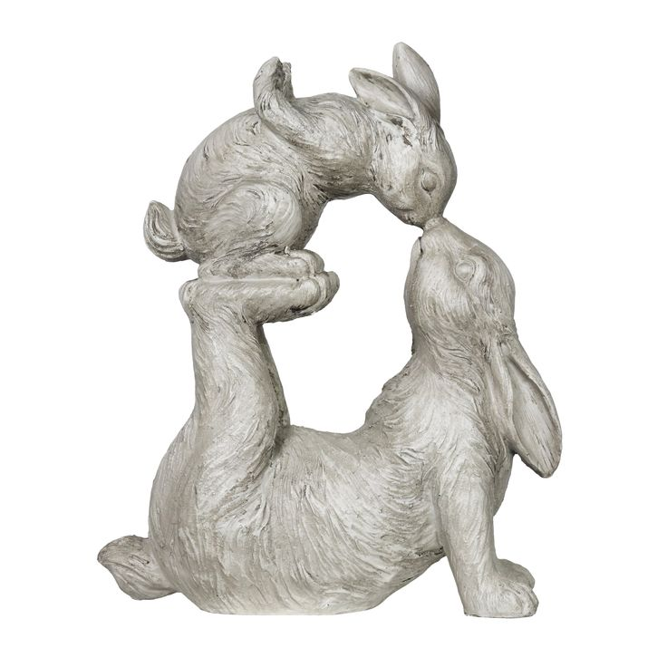 Kissing Rabbit with Baby Bunny Garden Statue in Natural Resin Finish, 15  Inches in 2021 | Bunny statue, Rabbit sculpture, Statue
