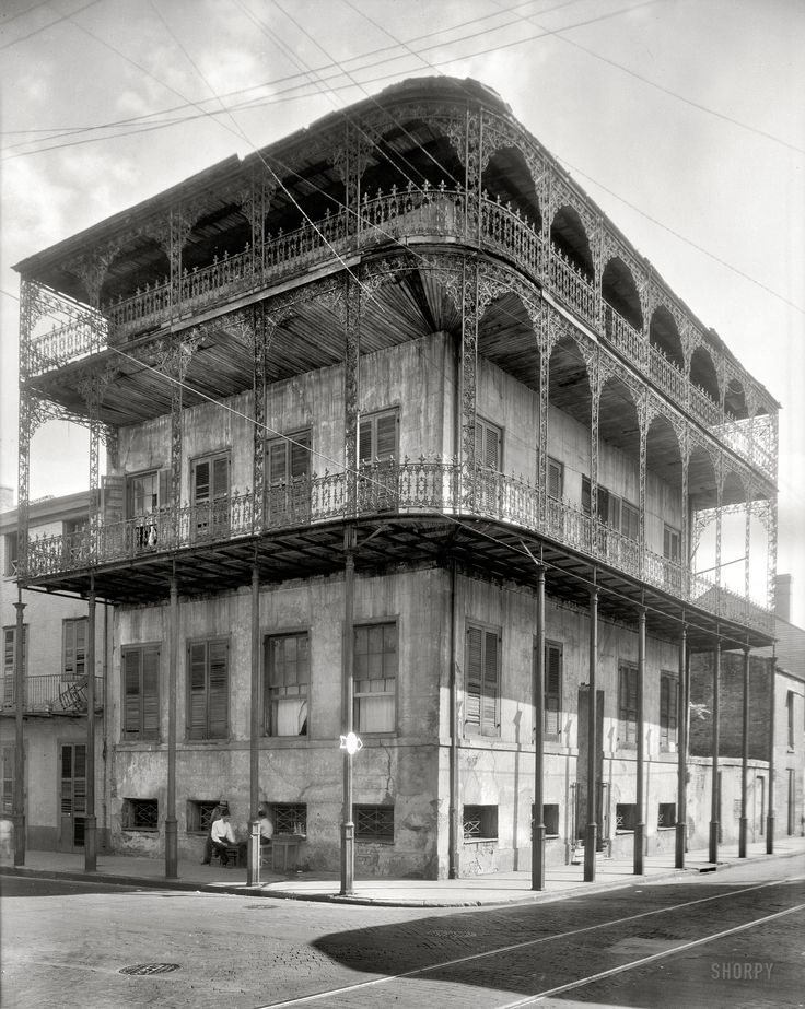 New Orleans, 1937: New Orleans, Historical Photo, Built In, Dauphin Street, 716 Dauphin, Pretr Mansions, France Benjamin, Benjamin Johnston, Old Photo