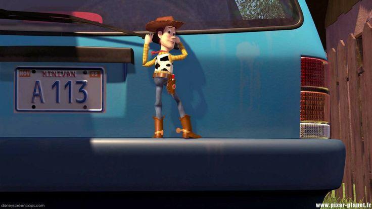 """A113 ist die Bezeichnung des Klassenraums, in dem viele Filmanimatoren ihr Handwerk gelernt haben. Der Raum befindet sich im California Institute of Arts. Dort findet für die Erstsemestler der Kurs """"Grafikdesign und Character Animation"""" statt und viele Animatoren, die heute bei Pixar, Disney und anderen Studios arbeiten, haben daran teilgenommen. Indem sie """"A113"""" an irgendeine Stelle im Film platzieren, grüßen sie ihre ehemaligen Studienkollegen und zeigen, was sie gerade machen."""