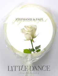 White Rose Wedding Personalised Lollipops