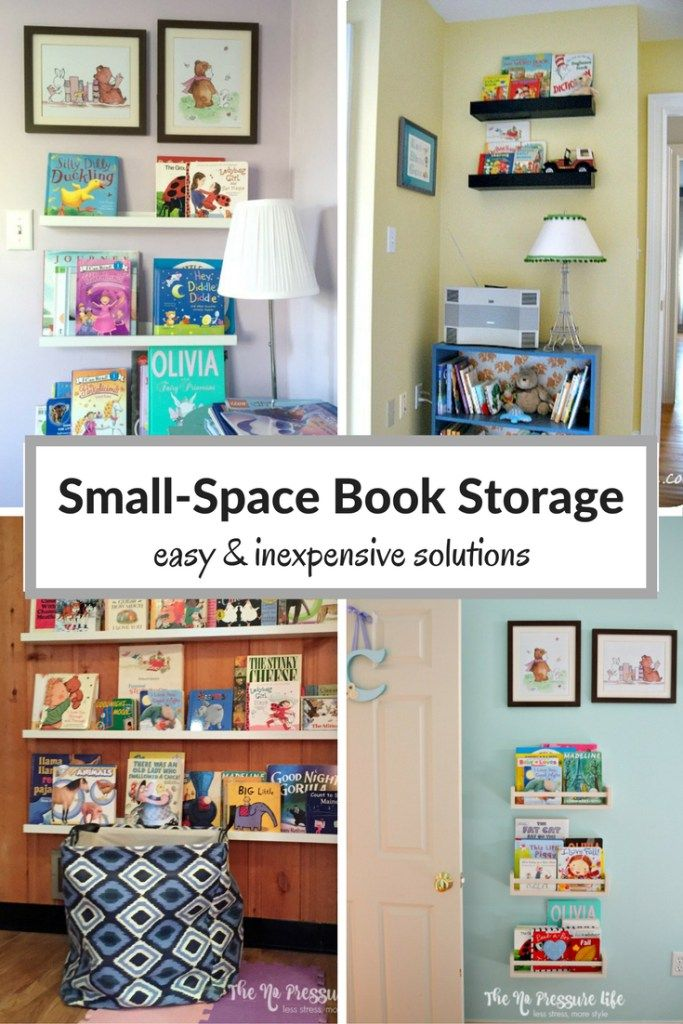 Have a lot of books and not enough space? These small space book storage ideas…