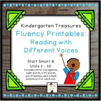 These fluency printables are created to be a companion product with the 2011 Treasures reading series for Kindergarten. The letters, words and sentences are in the same progression as the Treasures reading series. You can use these in guided reading groups, centers, independent seatwork, partner
