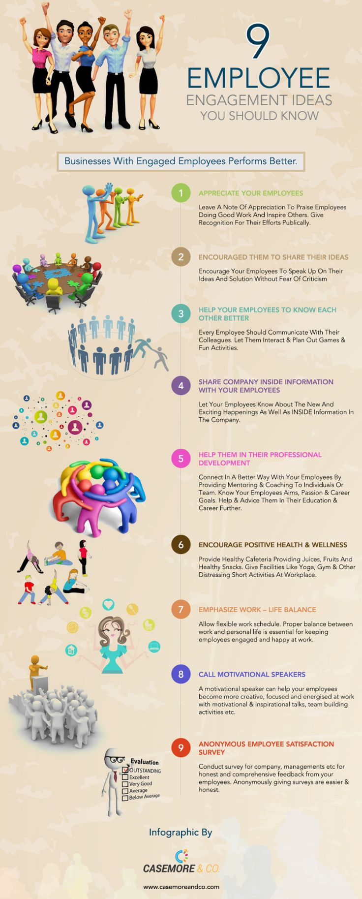 best images about employee experience life what are 9 ideas to improve employee engagement infographic