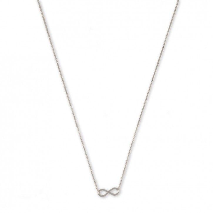 Super Stylish   Necklace   Infinity   Single *** Het kettinkje is vervaardigd van hoogwaardig sterling 925 met hoogglans finish in zilver, rosé of goud.