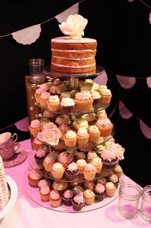 Vintage Wedding Cupcake Tower by Sweet Bakery & Cakery, Wellington NZ (www.sweetbakery.co.nz)