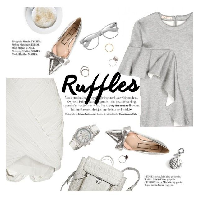 Ruffled by punnky on Polyvore featuring polyvore, fashion, style, Marni, Dion Lee, N°21, Iosselliani, Retrò, Banana Republic, Swiss Precimax, Haute Hippie, clothing and ruffles
