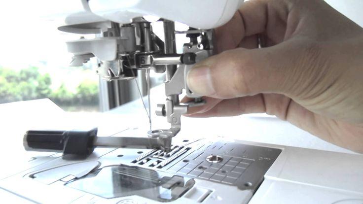 Como usar el pie de bordado en la maquina de coser Brother