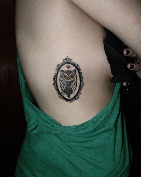 sexy tatuaje de buho en las costillas | Tattoo | Pinterest ...