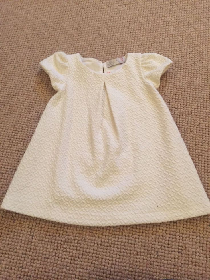 Zara Baby Girl Cream Dress. Thick Textured cotton. Christening Wedding. 6-9 Mth in Baby, Clothes, Shoes & Accessories, Girls' Clothing (0-24 Months) | eBay