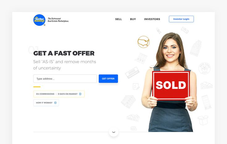 Seller Bailout. Homepage Website PSD Free