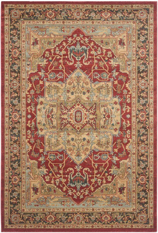 Pennypacker Oriental Natural/Navy Area Rug Area rugs