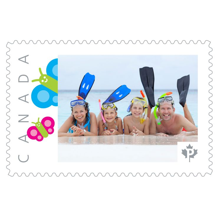 Remember the fun you had with your family this summer by creating your own stamp! It's easy breezy. All you have to do is upload your favourite photo to one of our many different templates.
