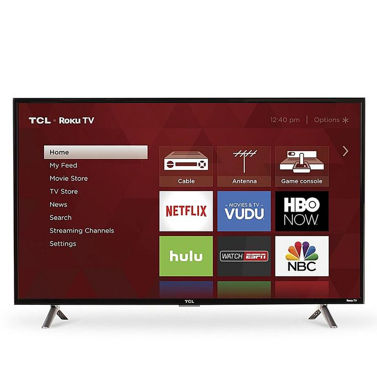 """TCL 40"""" Roku Streaming Smart LED Full HD TV with HDMI/Ethernet Cable"""