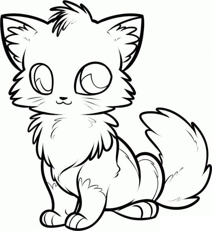 katzen ausmalbilder  anime tiere tiere zeichnen