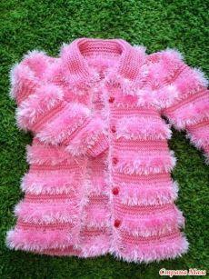 Пальто из травки. - Вязание для детей - Страна Мам