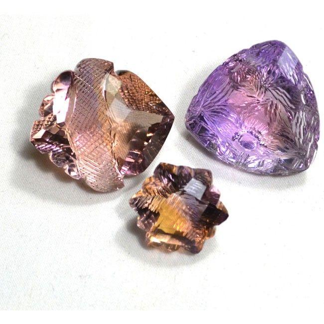 143.15 Cts. Fancy Shape Ametrine Gemstones Lot for Sale.