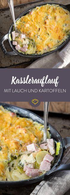 Wenn du ein schnelles Gericht suchst, das aber umso leckerer schmeckt, mache flink ein Kartoffel-Lauch-Kassler Gratin. Das schmeckt einfach immer gut!