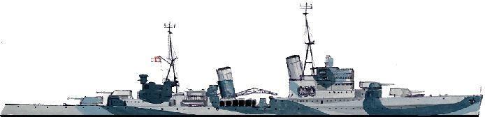 HMS Sheffield (C24) Southampton Town-class light cruiser of the British Royal Navy in WWII 1941.