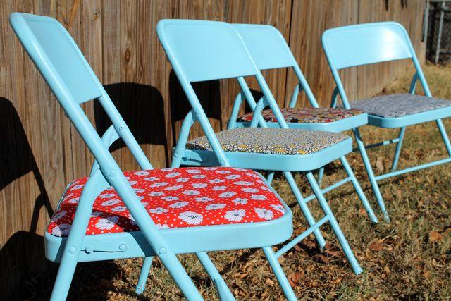 projetos punk: Restyled cadeiras dobráveis de DIY