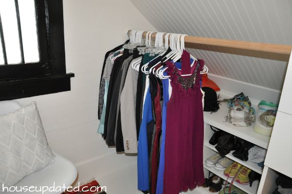Hidden Closet Storage Sloped Ceiling Ikea Hack Closet