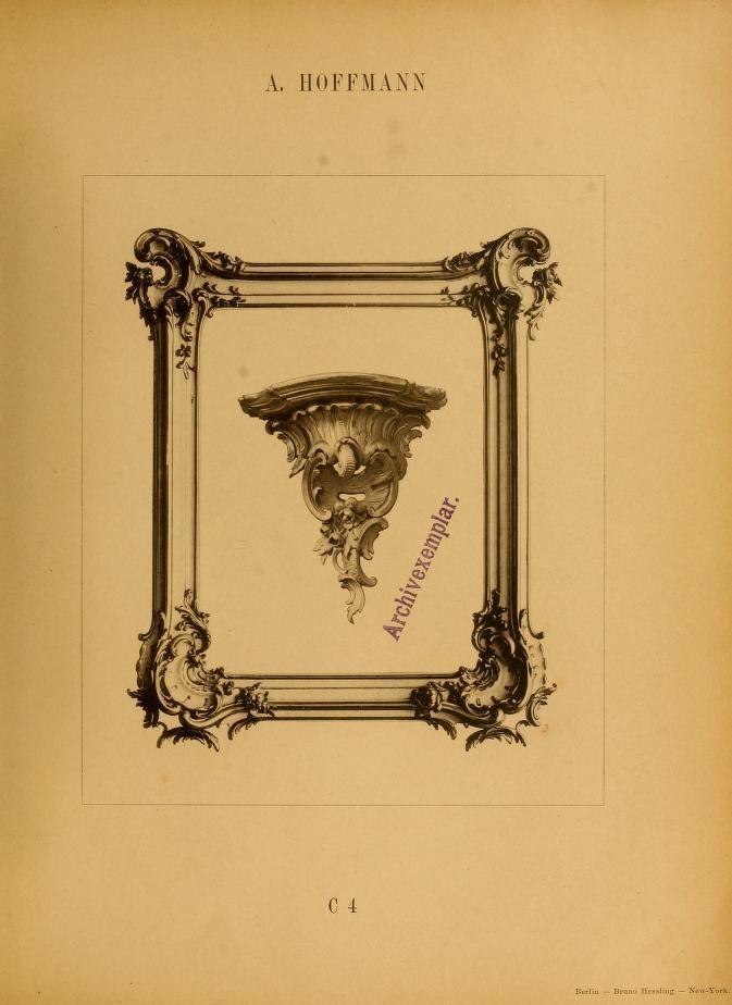 Holzsculpturen Und Möbel In Rococo : Stühle, Se.
