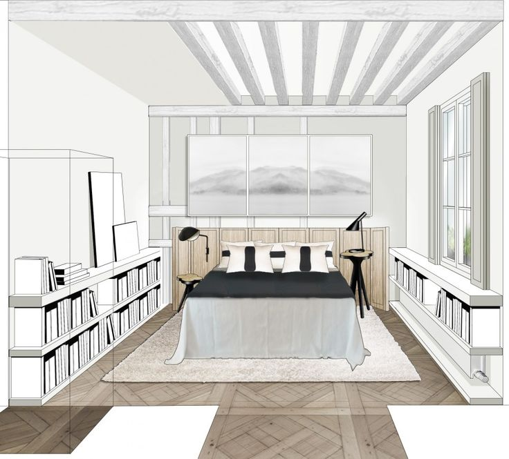 genve design marbre graphique intrieur double appartements projets dessin maison dessins archi dessin perspective decorateur preferes - Comment Dessiner Une Villa