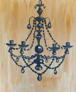 BYOB Painting Class: Chandelier on 3/29/2014 7:00:00 PM - at Paint Until You Faint
