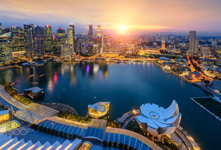 Singapore view point - View from the SkyPark, Marina Bay Sands Singapore