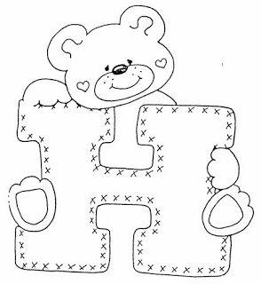 Alfabeto de ositos para colorear. | Oh my Alfabetos!